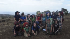 Sarah's Radnor team on expedition
